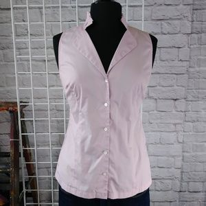 Ann Taylor Tops - Lavender Sleeveless Fitted Button Down Top